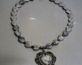 Ribbonflower Gallery- Fancy Stone Heart Pendant
