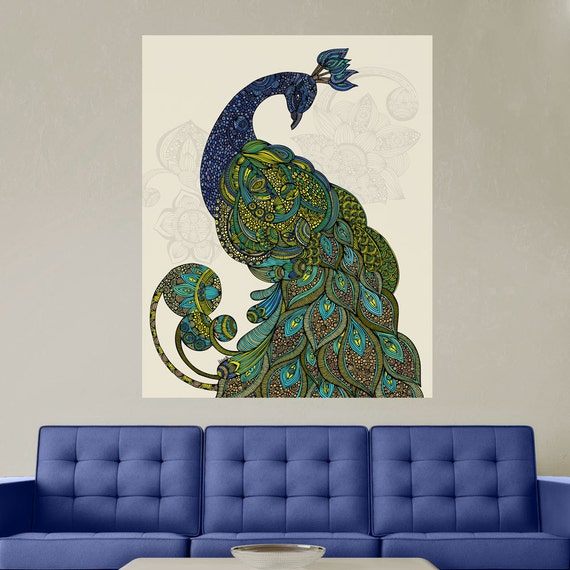 Peacock Art Wall Sticker Decal Peacock Eva By Valentina