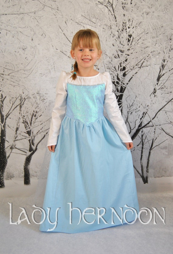 Elsa's Ice Dress in Sizes 2T, 3T, 4T, 5, 6, 7, 8 and 10