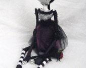Ooak Wierd Art Doll Dead Girl Gothic Doll Zombie - Rose