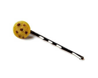 Cookie Bobby Pin - Hair Accessories - Women's Jewelry - Handmade - Gift Box Included