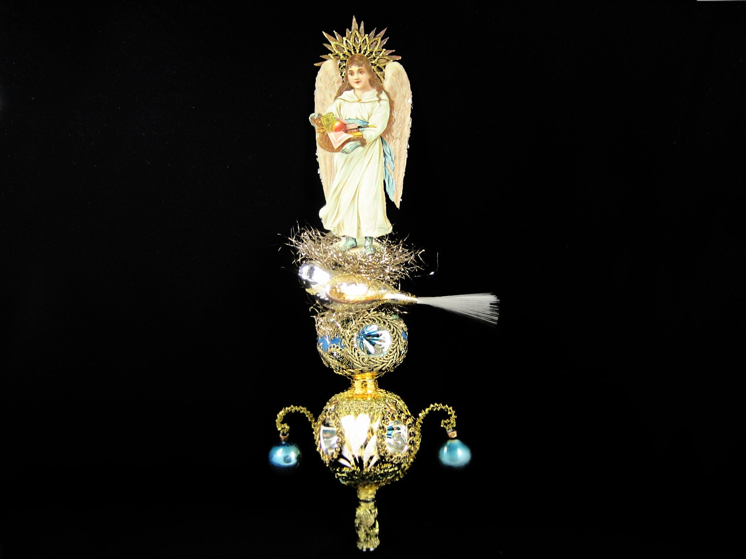 Victorian Christmas Tree Topper Angel Topper Victorian