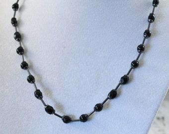 Nice Black Bead Classy Fashion Necklace