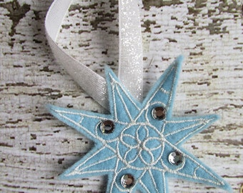 Ice Crystal Snowflake Christmas Ornament