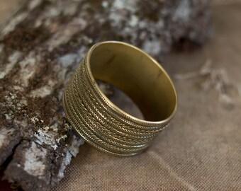 wide brass bangle