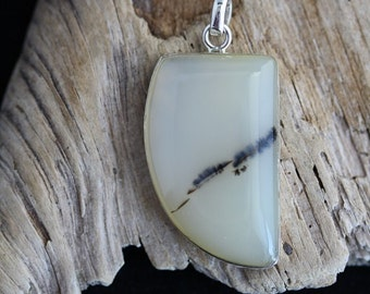 Free-formed Yellow Dendritic Agate Pendant - Item 646