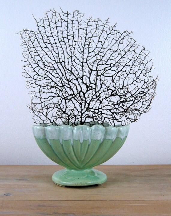 Vintage Seafoam Green Planter Vase