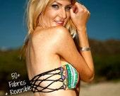 KAPAA Reversible Fishnet Macrame Bandeau Bikini Top Custom Made by Peace of Paradise Creations