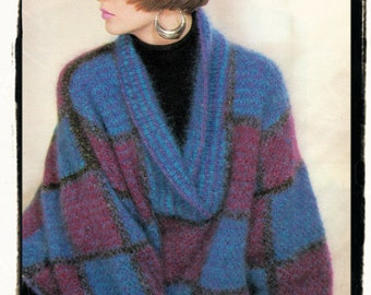 Swing Sweater Knitting Pattern : Instant Download PDF Fifties Crochet Pattern to make a Womens