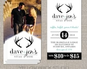 Stag and Doe Photo Tickets - 250 or 500 double sided tickets and digital poster by YellowBrickStudio
