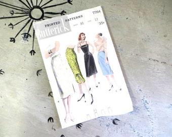 1950s Skirt Pattern Straight Skirt Slim Skirt Pattern Butterick 7764 1950s Holiday Skirt Dress Skirt Calf Skirt