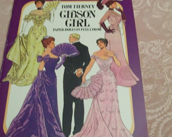 Vintage Paper Dolls Gibson Girls Uncut Tom Tierney Circa 1985