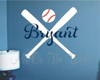 Baseball Bat Decal Etsy - Vinyl vinyl wall decals baseball
