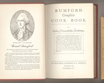Rumford Complete Cook Book by Lily Hayworth Wallace, Published by Rumford Chemical Works in 1946 Vintage Cookbook Recipes
