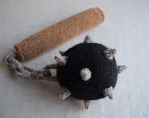 Ball and Chain Flail PDF Knitting Pattern - Medieval weapon