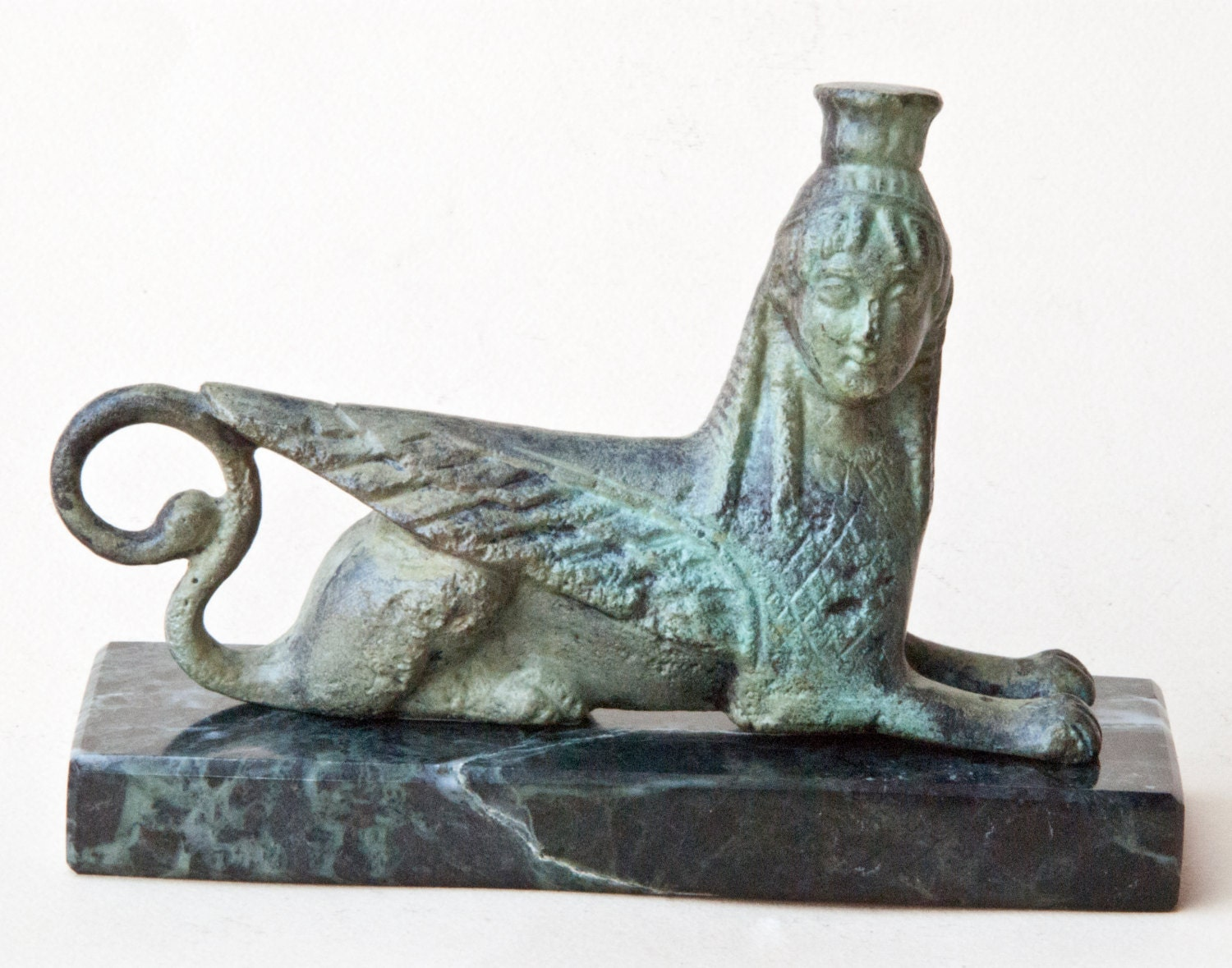 mythical sphinx bronze sculpture greek mythical creature ancient