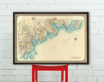 Map of Westchester County - Old map print - Archival reproduction