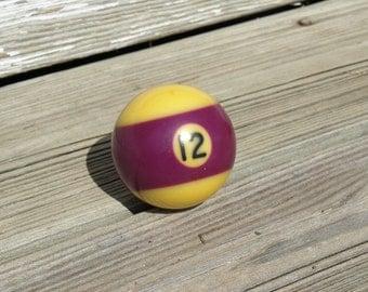 Vintage Billiard Ball - Purple striped Number 12