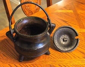Antique Cast Iron Firestarter/Caldron Pot Kettle