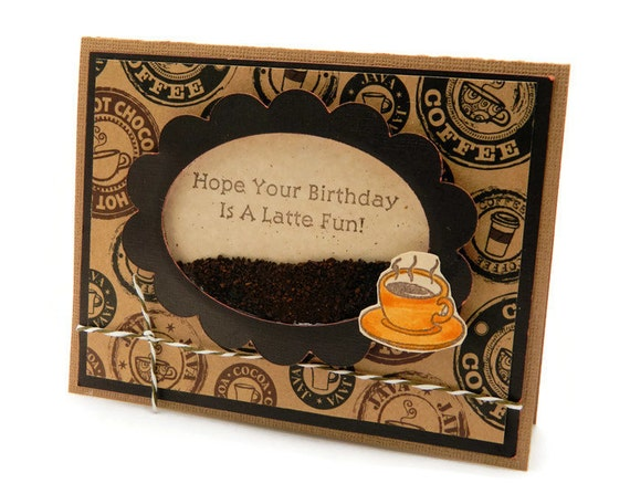 coffee birthday card funny bday card greeting card unique, Birthday card