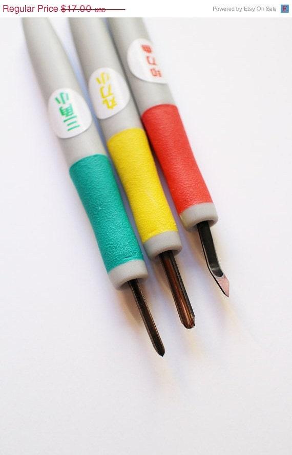 Japanese stamp carving knife set tools diy