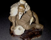 MUD MAN #2 Small Fisherman.  Estate collection of beautifully made figures.