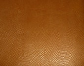 """Leather 8""""x10"""" Pearlized Golden Topaz AMAZON COBRA embossed Cowhide 2.5 oz / 1 mm PeggySueAlso"""