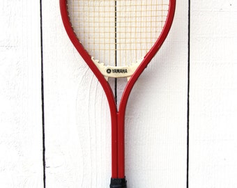 Vintage Yamaha Tennis Racket / Yamaha Fiberglass Racket / YFG 30 Antique Tennis Racket / Wooden Racket / Wood Tennis Racket