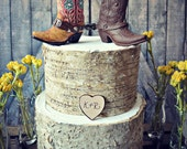 Western-boots-wedding-cake topper-cowboy-cowgirl-bride-groom-boots-hat-rustic-wedding decor-personalized-country-Mr and Mrs-hunting-horse