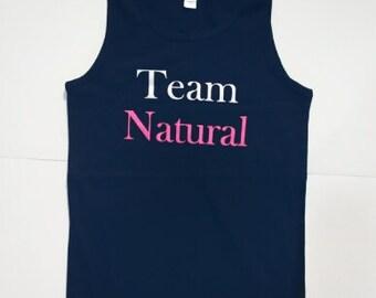 Black Team Natural Tank Tops