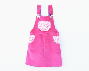 BLOOMY Girl Pinafore pattern Pdf sewing pattern, Girl Dress Skirt Dungaree Overall Jumper, toddler, size 3 4 5 6 7 8 9 10 yrs