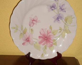 "Wild PETUNIA/Pink Glaze/NIKKO CHINA/Japan/Dinner Plate 10"""