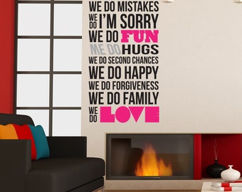 House Rules 3 Removable Wall Decal
