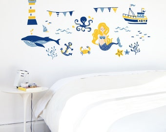 Nautical Collection Sunrise Yellow Removable Wall Sticker | LSB0023WHT