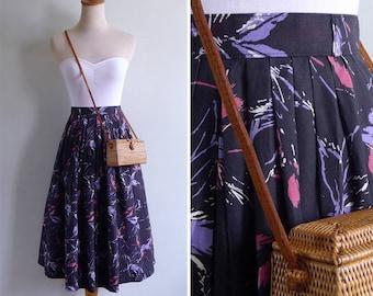 Vintage 80's 'Jackson Pollock' Paint Splatter Cotton High Waisted Skirt XS