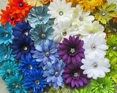 Daisy Mini Hair Flower Clips/Pins or Shoe Clips - 17 Colors/Styles!