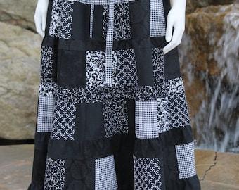 Hippie Patchwork Skirt  Festival  Clothes Hippie Clothes Hippie Skirt Hippie Clothing Festival Clothing Patchwork Skirt Festival Skirt Black