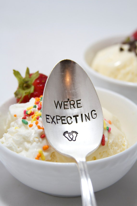 We're Expecting - Announcement Baby Spoon