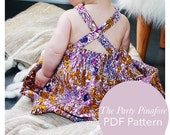 Party Pinafore Dress Pattern 0 months to 2T