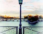 Paris Lock Bridge Photography, Paris Love Locks, Pont des Arts, Lock Bridge, The Seine, Large Paris Art Print