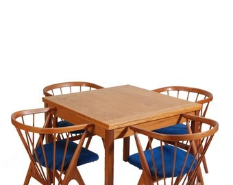Square Mid Century Danish Modern Dining Table in Teak