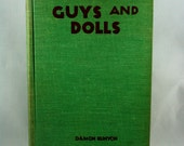 vintage Collectible Book Guys and Dolls by Damon Runyon collection of 3 short stories 1935