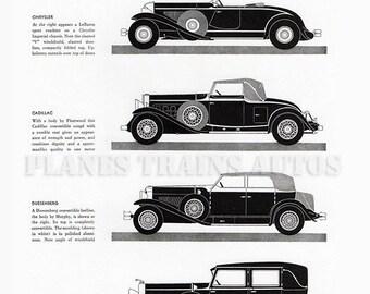 Vintage Auto Advert 1931 Vanity Fair. New York Salon. 1930s automobile magazine advert. Instant Download.