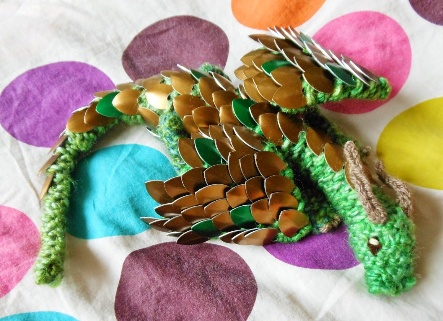 Knit Dragon Pattern : Knit Your Own Baby Scale Mail Dragon