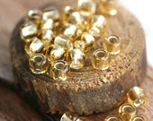 Golden Toho seed beads size 6/0 Silver Lined Light Topaz N 22 gold round japanese glass rocailles beads 10g - S371