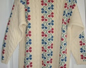 Vintage Wool Sweater, S.S.G. by Catharine Lover Large 100% Wool Pullover Sweater