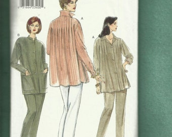 Vogue 9460 Easy Fitting Tunics with Shoulder Tucks & Tapered Leg Pants Sizes 8 UNCUT