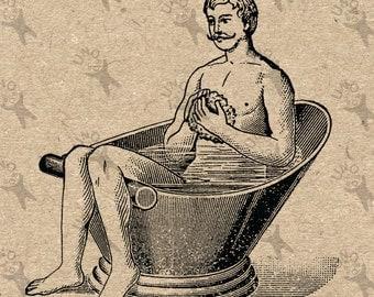 Vintage Bathtub Clipart