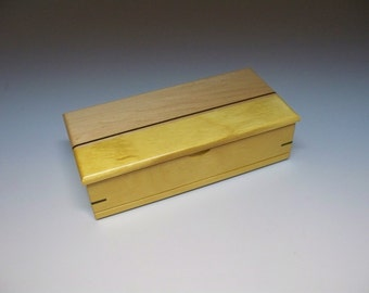 Yellowheart, Wenge &  Maple Inlay Box, Gift Idea, Best Man Gift, Small Wooden Box, Watch Box, Corporate Gift, Small Wooden Box