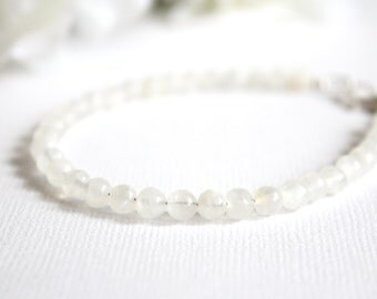Fertility Crystals Moonstone Crystal Bracelet, White Moonstone Bracelet, Fertility Bracelet, Pregnancy Jewelry- FREE Gift Packaging